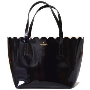 ケイトスペード大人気モデルのトートバッグより待望のブラックカラーを入荷しました!光沢感のあるパテント...