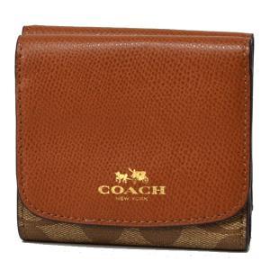 コーチ 財布 COACH  レザー バイカラー シグネチャー 二つ折り財布 サドル 53837|pike-st