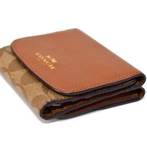 コーチ 財布 COACH  レザー バイカラー シグネチャー 二つ折り財布 サドル 53837|pike-st|04