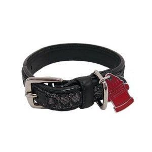 コーチ ペット用品 COACH シグネチャー ファイヤー ハイドランド ドッグカラー S 犬の首輪 61314|pike-st