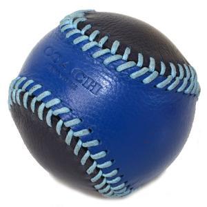 コーチ COACH  レザー ベースボール ペーパーウエイト 文鎮 ブルー×ネイビー 61450|pike-st