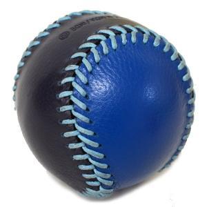 コーチ COACH  レザー ベースボール ペーパーウエイト 文鎮 ブルー×ネイビー 61450|pike-st|02