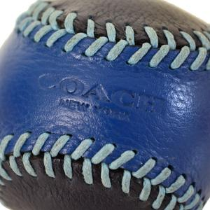 コーチ COACH  レザー ベースボール ペーパーウエイト 文鎮 ブルー×ネイビー 61450|pike-st|04