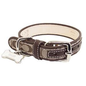 コーチ ペット用品 COACH シグネチャー ボーン チャーム ドッグカラー XS 犬の首輪 61920|pike-st