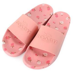 コーチの超レアで超可愛いピンク系の日本未発売スライドサンダルを本場アメリカで直入荷!幅広い年齢層の女...