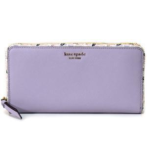 本場アメリカ直入荷♪ケイトスペードよりラベンダー色の本革レザーが超キュートな長財布を厳選入荷しました...