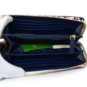 ケイトスペード 財布 katespade レザー キャメロン マイクロ フローラル 花柄 フラワー コンチネンタル ジップ アラウンド 長財布 ブレザーブルー WLRU5407|pike-st|04