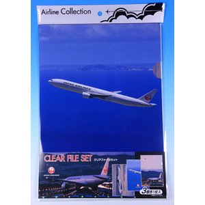 JAL日本航空グッズ商品 クリアファイルセットJAL・BOEING|pilothousefs-cima