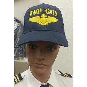 Top Gun with Gold Navy Wings Cap pilothousefs-cima