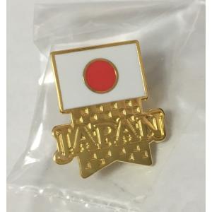 ジャパンチームフラッグピンバッジ|pin-bigwave