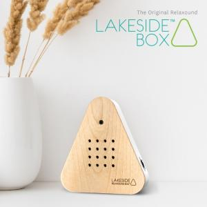 インテリア雑貨 おしゃれ 湖畔の自然音 オブジェ 置物 ドイツ 癒し ヒーリング リラックス Lakesidebox レイクサイドボックス WOOD リラクサウンド ギフト|pineport