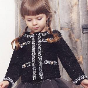フォーマル ジャケット ツイード 女の子 子供服 アウター ...
