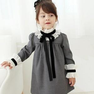 ワンピース フォーマル 長袖 女の子 子供服 ドレス キッズ...