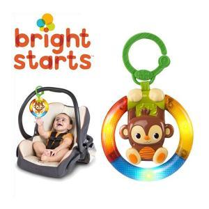 チャイルドシート用品 おでかけトイ シェイク&グロー・モンキー  おもちゃ ベビー キッズ マタニティ 室内 育児 動物 さる ギフト お祝い プレゼント 車 baby|pinkybabys