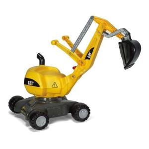 乗用玩具 ディガーCAT ジョブインターナショナル JOB おもちゃ 自動車 働く車 シャベルカー ショベルカー 誕生日プレゼント rolly toys ロリートイズ|pinkybabys