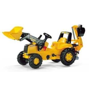 乗用玩具 CATジュニアトラック JOB おもちゃ 自動車 働く車 シャベルカー ショベルカー 誕生日プレゼント【rolly toys ロリートイズ】|pinkybabys