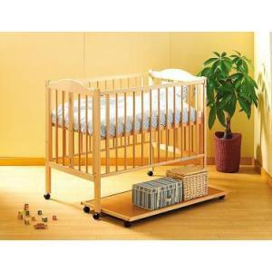 ベビーベッド ワンタッチハイベッド パル ナチュラル ishizaki ベット 出産準備 bed 木製ベッド 石崎家具 baby|pinkybabys