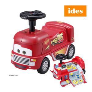 乗用玩具 おもちゃ カーズ レーシングトレーラー アイデス のりもの 乗り物 キッズ 誕生日 ギフト プレゼント 映画 disney ディズニー ides|pinkybabys