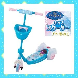 キックスクーターキッズスクーター アナと雪の女王 アイデス ides ディズニー Disney 三輪車 自転車 バランスバイク スケーター 遊具 おもちゃ プレゼント|pinkybabys
