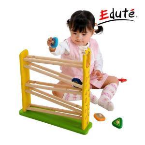 知育玩具 キリンスロープ エデュテ 木製玩具 木のおもちゃ おもちゃ キッズ ベビー 男の子 女の子 誕生日 プレゼント ギフト 動物 指先 出産祝い スロープトイ|pinkybabys