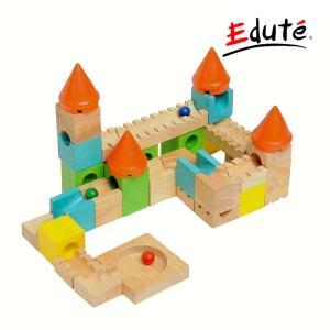 知育玩具 カラフルキャッスル エデュテ ボイラ Voila 木製玩具 木のおもちゃ ピタゴラス ボール 迷路 誕生日 プレゼント ギフト キッズ 男の子 女の子|pinkybabys