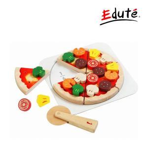ままごと ヤミーピザ エデュテ ボイラ ごっこ遊び おままごと 3歳からOK ギフト プレゼント 誕生日 クリスマス ピザ屋さん 木製玩具 木のおもちゃ|pinkybabys
