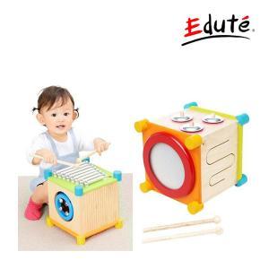 知育玩具 木製玩具 メロディーキューブ エデュテ おもちゃ 一部地域送料無料 知育 子ども 育児 誕生日 ギフト お祝い プレゼント 音遊び|pinkybabys