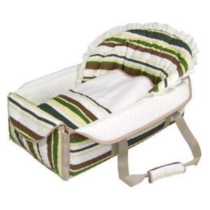 ベビーキャリー バッグdeクーファン ボーダー グリーン バッグでクーファン fuziki クーハン おでかけ オムツ替え フジキ 日本製 出産祝い ギフト 送料無料|pinkybabys