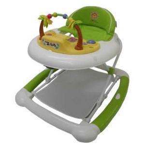歩行器 ベビーウォーカーZOO グリーン JTC ジェーティーシー まあるい歩行器 シンプル 乗用 おもちゃ 歩行訓練 便利 折りたたみ 誕生日プレゼント 安心 安全|pinkybabys