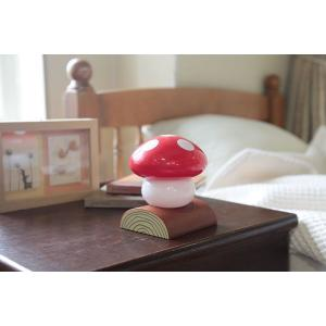 ベッドライト きのこらいと レッド LED インテリア照明 キノコライト ライト インテリア 照明 LED LEDライト 明かり 室内 おしゃれ こども 部屋 富士パックス|pinkybabys