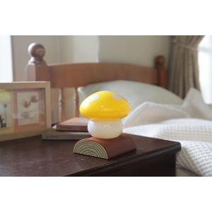 ベッドライト きのこらいと イエロー LED インテリア照明 キノコライト ライト インテリア 照明 LED LEDライト 明かり 室内 おしゃれ こども 部屋 富士パックス|pinkybabys