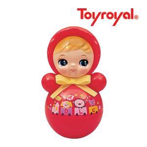 おもちゃ 346 おきあがりポロンちゃん レッド ローヤル toyroyal おもちゃ toys ギフト 起き上がり 音色 コロンコロン 出産祝い 誕生日 安心 知育玩具 人気|pinkybabys