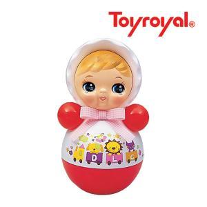 おもちゃ 346 おきあがりポロンちゃん ホワイト ローヤル toyroyal おもちゃ toys ギフト 起き上がり 音色 コロンコロン 出産祝い 誕生日 安心 知育玩具 人気|pinkybabys
