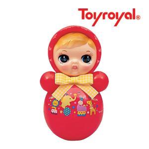 おもちゃ 347 おきあがりポロンちゃん レッド ローヤル toyroyal おもちゃ toys ギフト 起き上がり 音色 コロンコロン 出産祝い 誕生日 安心 知育玩具 人気|pinkybabys