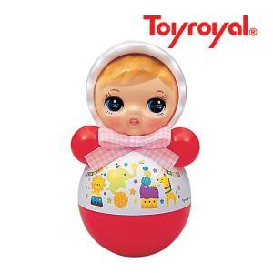 おもちゃ 347 おきあがりポロンちゃん ホワイト ローヤル toyroyal おもちゃ toys ギフト 起き上がり 音色 コロンコロン 出産祝い 誕生日 安心 知育玩具 人気|pinkybabys