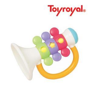 ラトル 3182 ラ♪の音のラッパ ローヤル toyroyal おもちゃ toys ギフト gift ガラガラ チャイム マラカス 誕生日プレゼント 出産祝い 安全|pinkybabys