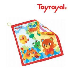触るとガシャガシャ、赤ちゃんの大好きな音のするタオルです。 かわいい動物のイラストが赤ちゃんの目を引...