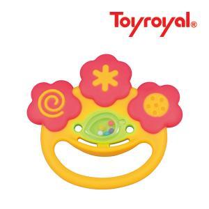ラトル 3195 やわらか 片手でなめなめ ローヤル toyroyal おもちゃ toys ギフト gift プレゼント 出産祝い 安全 安心 歯固め ラトル|pinkybabys