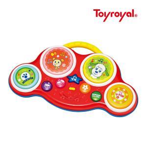 楽器玩具 ワンワンとうーたんのリズムでタッチ トイローヤル toyroyal おもちゃ ギフト メロディ リトミック ワンワン うーたん 誕生日プレゼント 知育玩具|pinkybabys