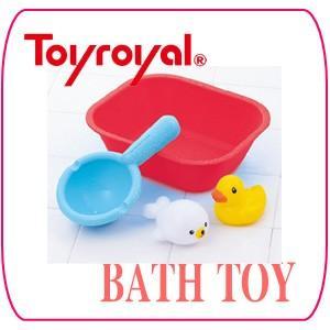 お風呂のおもちゃ 7272 やわらかおふろでプカプカセット トイローヤル ToyRoyal バストイ お風呂 おもちゃ オフロ おふろ グッズ ベビー キッズ 子供 ローヤル|pinkybabys