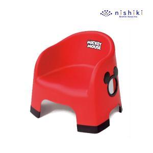 ローチェア ミッキーマウス ララチェア レッド RD ミッキー チェア 子供用 disney 椅子 イス 豆チェア 豆イス 錦化成 【ギフト包装不可】|pinkybabys