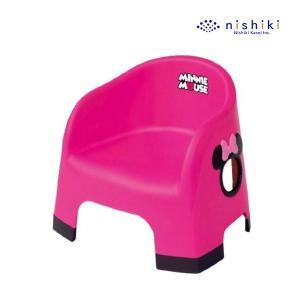 ローチェア ミニーマウス ララチェア チェリーピンク 女の子 チェア 子供用 disney 椅子 イス 豆チェア 豆イス 錦化成 【ギフト包装不可】|pinkybabys