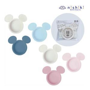 ベビー食器 アイコン小皿3枚セット 錦化成 食器セット ベビー キッズ 出産 お祝 ギフト Disney ディズニー ミッキー ミニー|pinkybabys