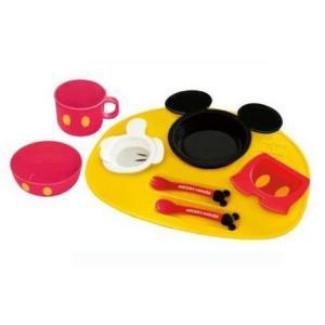 ランチプレート ミッキーマウス アイコン ベビー食器セット 錦化成 食器 離乳食 子供 幼児 ディズニー 食器セット コップ プレート 離乳食器
