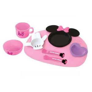 ランチプレート ミニーマウス アイコン ベビー食器セット 錦化成 食器 離乳食 子供 幼児 ディズニー 食器セット コップ ちゃわん ワンプレート プレート