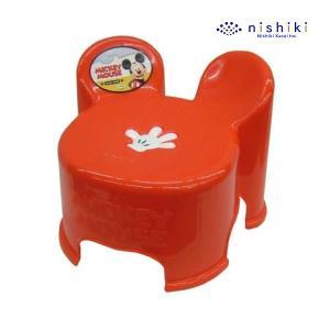ローチェア ミッキーマウス キャラスツール キッズチェア RD レッド ミッキー ディズニー dis...