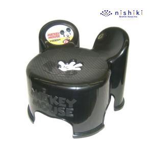 ローチェア ミッキーマウス キャラスツール キッズチェア BK ブラック ミッキー ディズニー di...