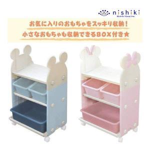 おもちゃ収納 トイ・ステーション 錦化成 おもちゃ箱 子ども部屋 Disney ディズニー 室内 家具 ミッキー ミニー 子供部屋 お片付け|pinkybabys