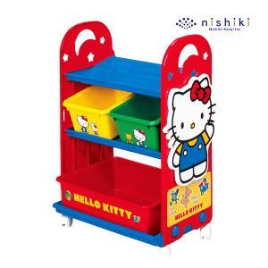 おもちゃ箱  ハローキティトイステーション 錦化成 nishiki kasei バケツ 収納 おかたづけ 物入れ 子供用 人気商品ギフト包装不可|pinkybabys