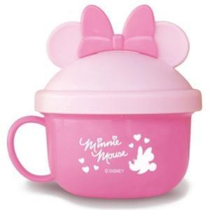 赤ちゃん用お菓子 NEW ミニーマウス ベビーフードカップ  PK 錦化成 食器 携帯用  子供用 幼児用 おでかけ 旅行 ディズニー 里帰り 帰省 baby|pinkybabys